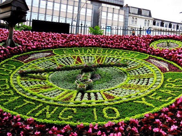 Flower Clock in Edinburgh, Scotland