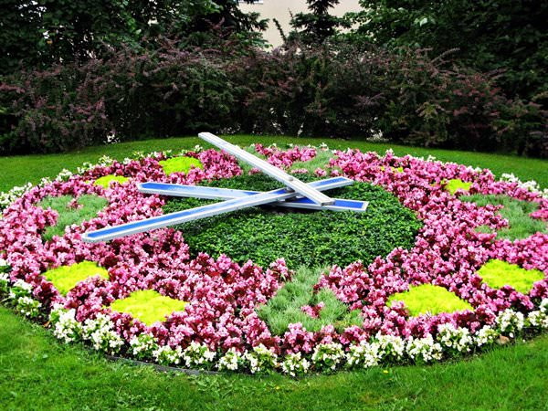 Flower Clock in Ventspils, Latvia