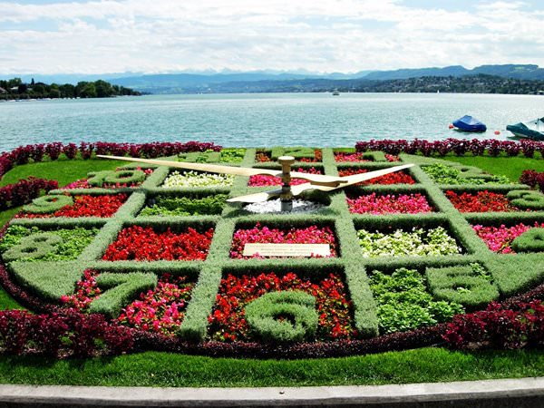 Flower Clock in Zurich, Sweden