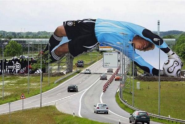 Fußballbrücke, Deutschland