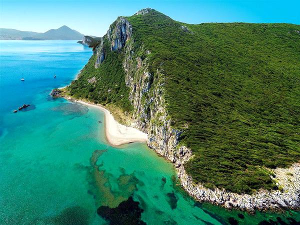 Glossa Beach, Griechenland
