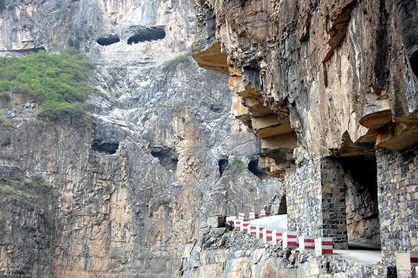 Guoliang Bergtunnel, China