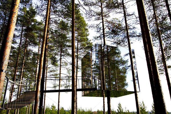 Mirror Cube Tree Hotel, Schweden