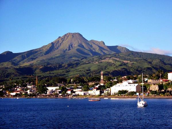 Vulkan Mount Pelee, Frankreich