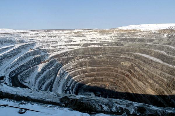 «Udatschnaja» Kimberlitröhre, Russland