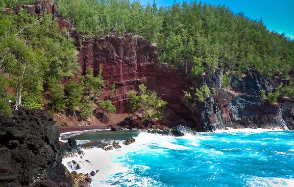 Roter Strand Kaihalulu, Vereinigte Staaten