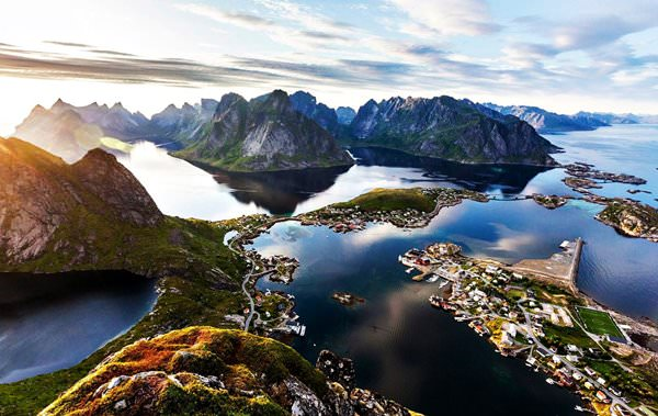 Reine Village, Norwegen