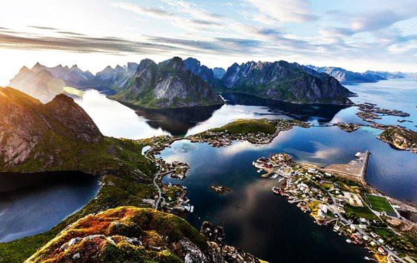 Reine Village, Norwegen