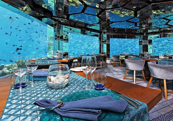 """""""Sea.Fire.Salt.Sky."""" Unterwasserrestaurant, Maldives"""