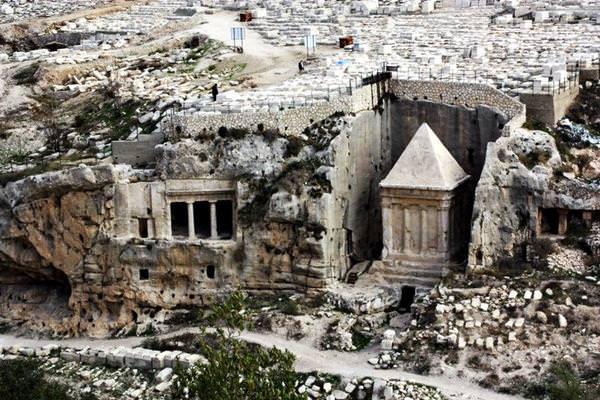 Grab des Zacharias, Israel