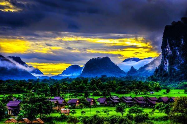 Vang Vieng Village, Laos