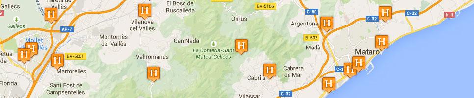 Поиск отелей на карте США