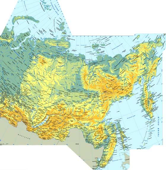 Подробная карта России для печати или скачивания