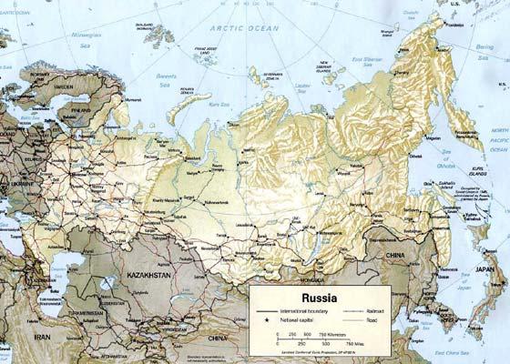Детальная карта России - скачать или распечатать