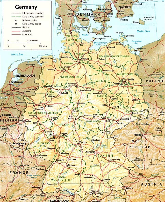Kaart Van Duitsland In Hoge Resolutie Voor Download Duitsland Kaart
