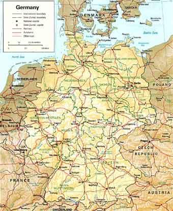 Подробные карты стран европы
