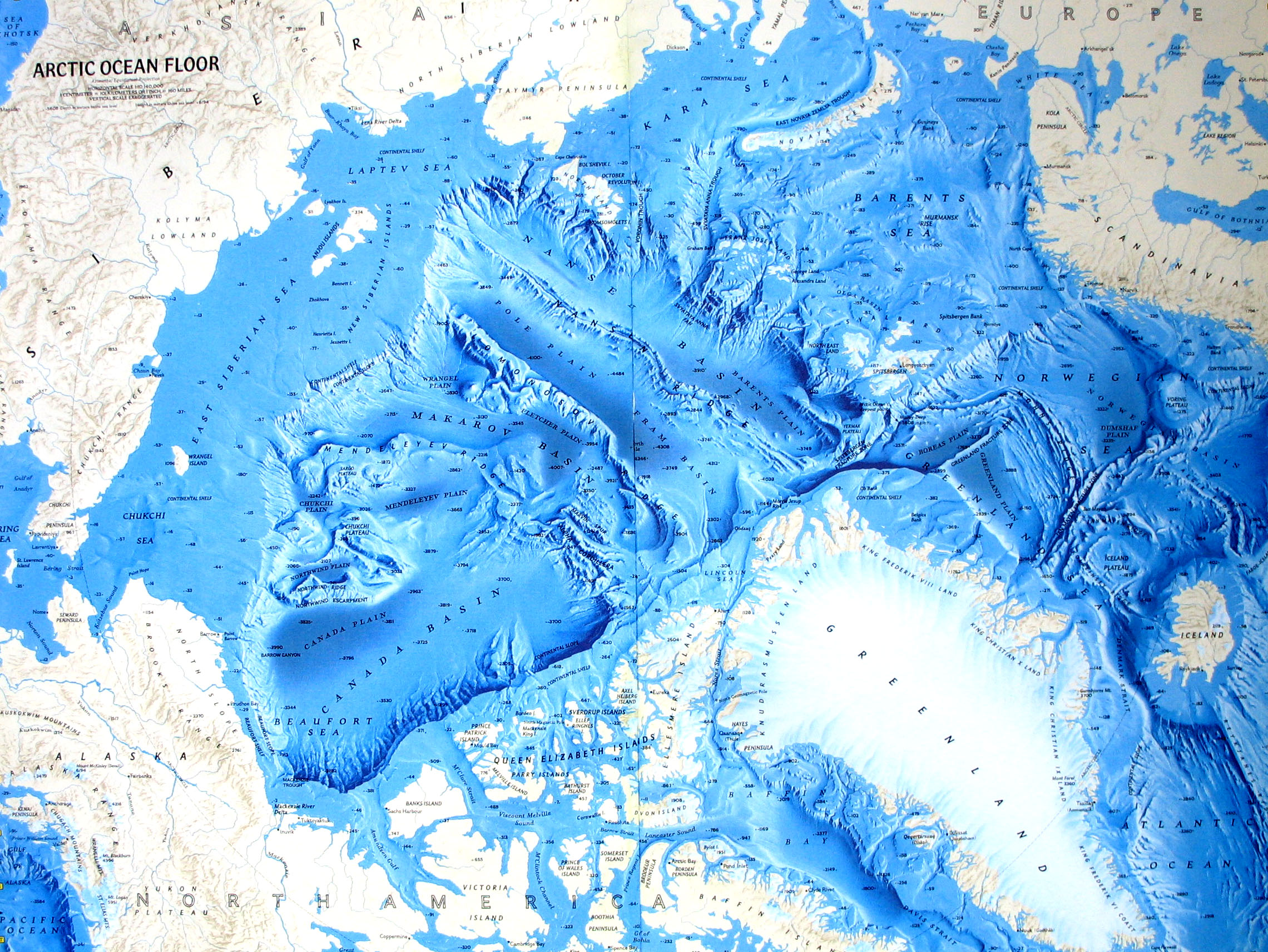 Ocean Floor Relief Maps | Detailed Maps