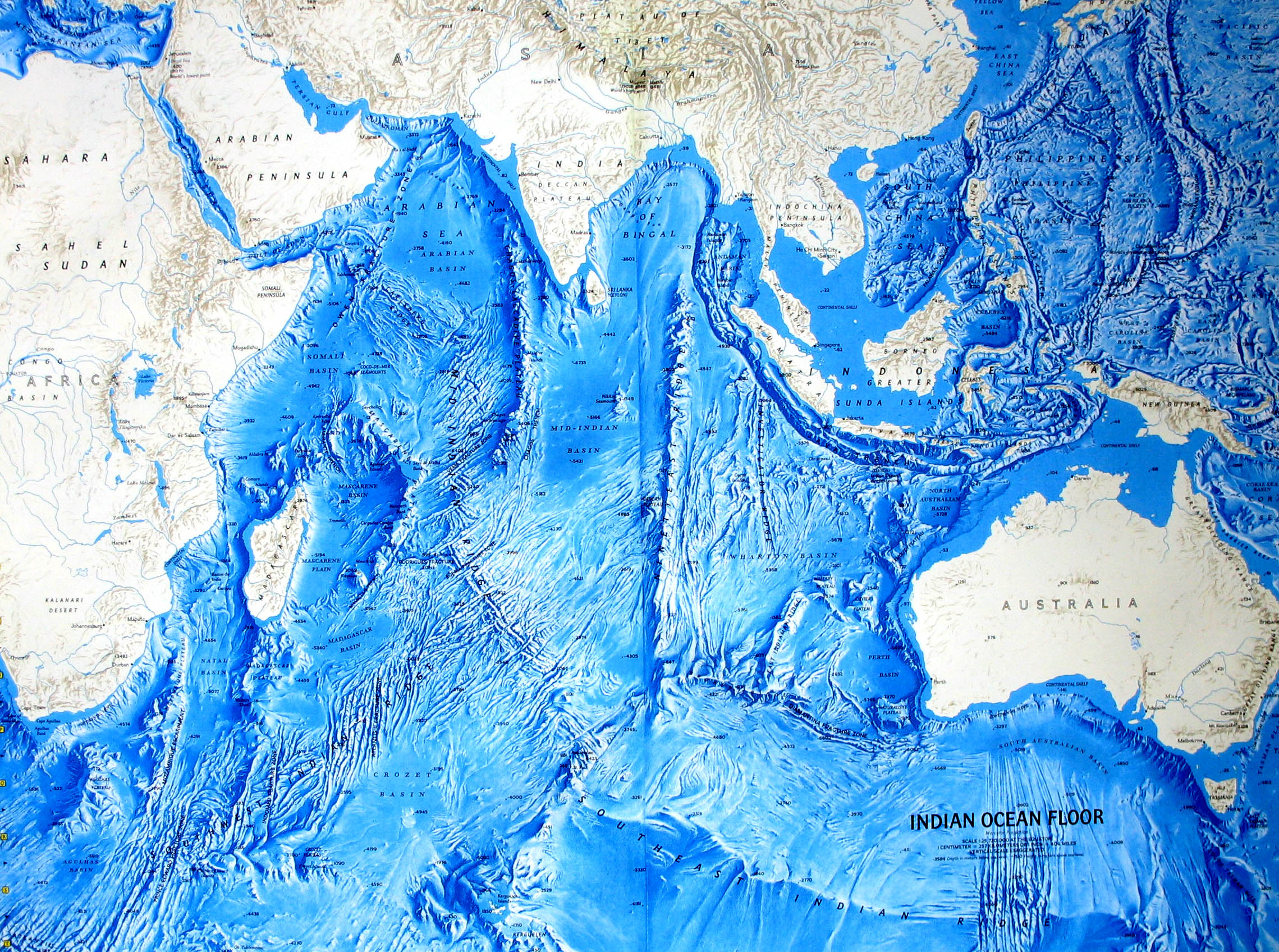 Ocean Floor Relief Maps Detailed Maps of Sea and Ocean Depths
