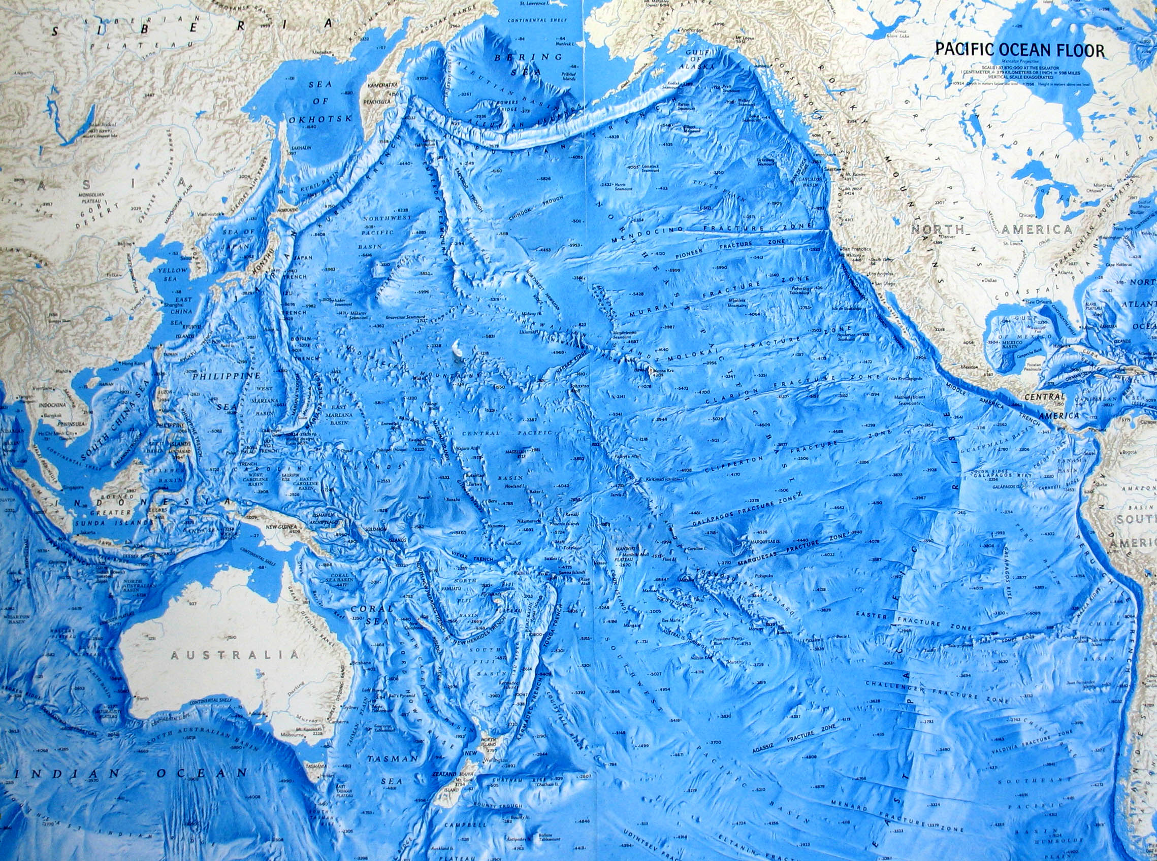 Ocean Floor Relief Maps | Detailed Maps of Sea and Ocean ... Pacific Ocean Underwater Map