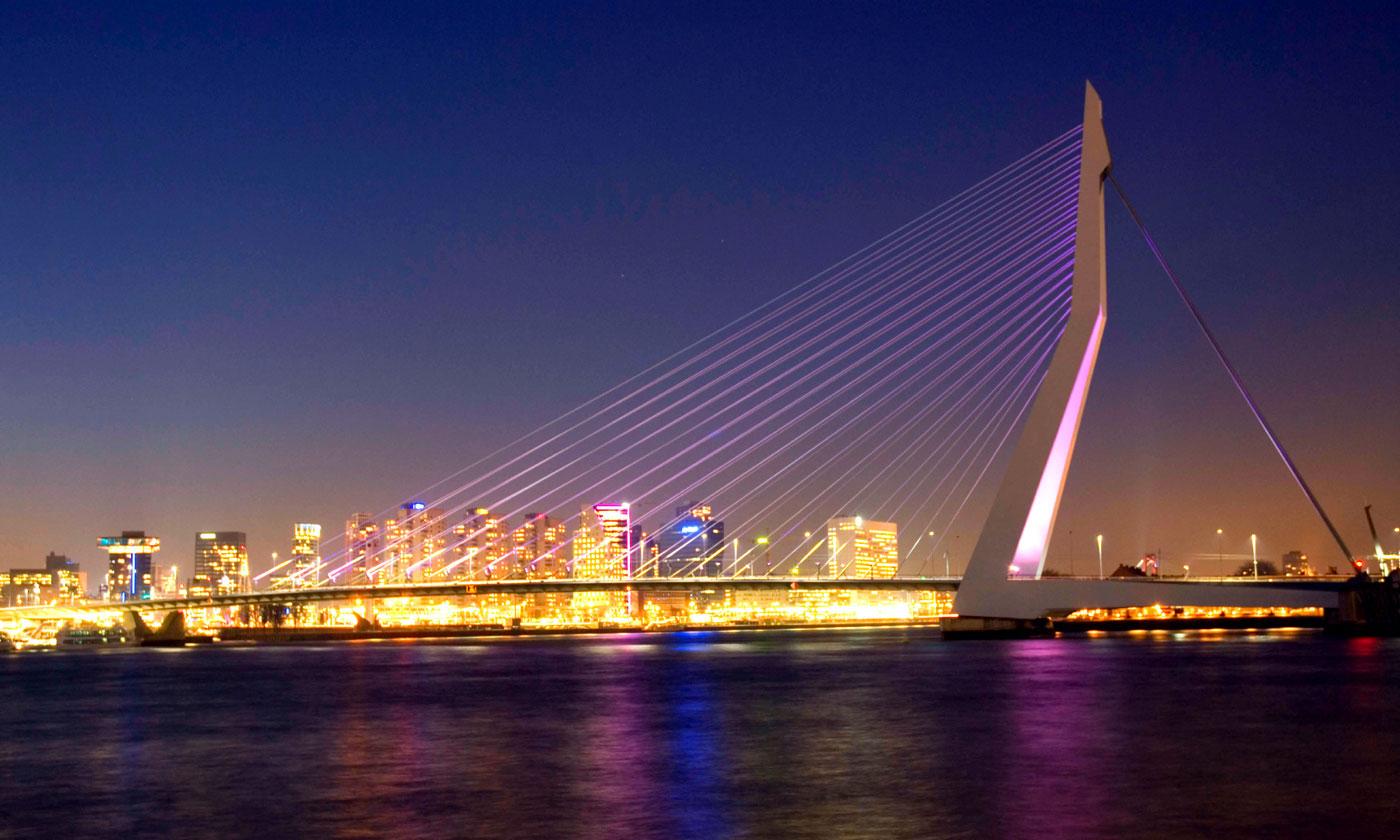 Rotterdam Netherlands  city pictures gallery : erasmusbrug erasmus brücke ort rotterdam netherlands auf der karte ...