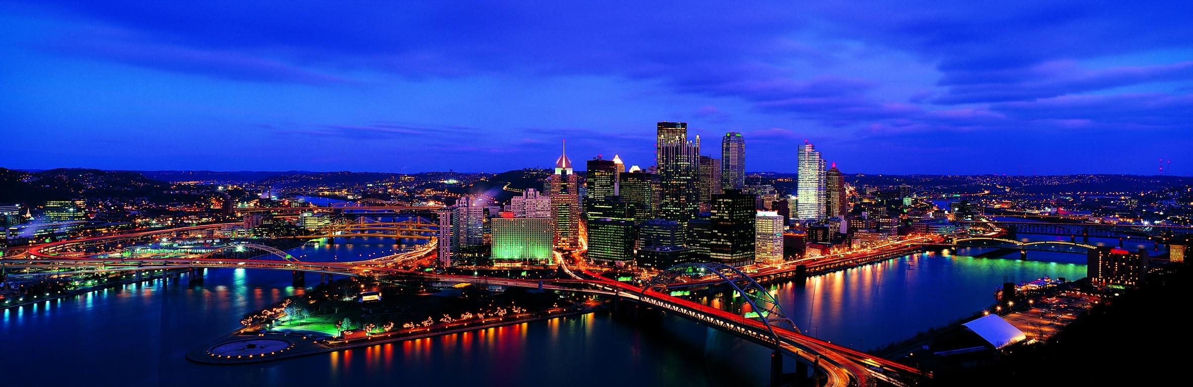 Huge Panoramic Foto Of Usa Cities High Resolution